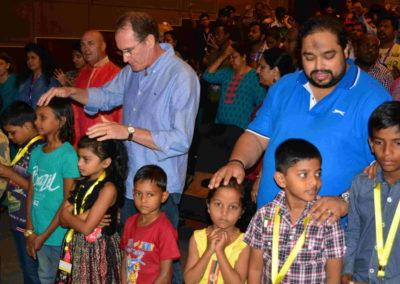 children being prayed for o